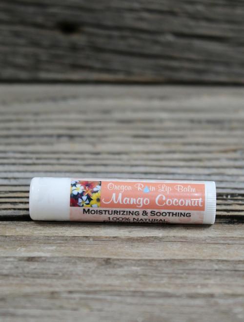 All Natural Mango Coconut Moisturizing Lip Balm Made in Oregon, USA