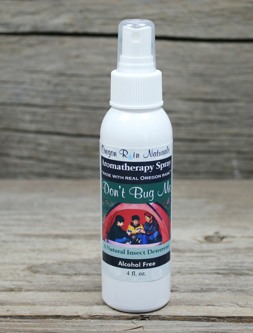 A great bug repellent:  Don't Bug Me Spray All natural: safe for skin & clothes