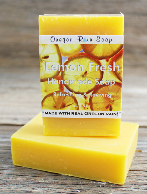 Lemon Fresh - Mild cleansing bar soap 100% Naturally scented Made in Oregon, USA