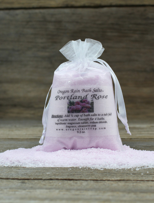 Portland Rose Bath Salts Healing to the Heart Great for sore muscle aches and pains Made in Oregon, USA