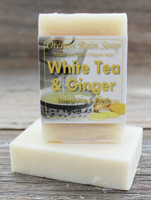 White Tea & Ginger - mild cleansing bar soap Made in Oregon, USA