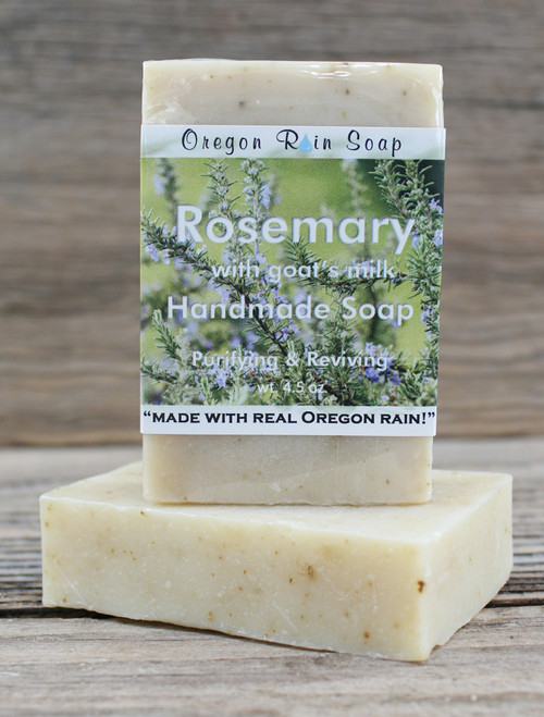 Rosemary - mild cleansing bar soap Made with goat's milk 100% natural! Made in Oregon, USA