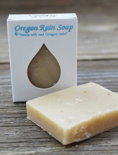 Made with goat's milk. Mild cleansing guest sized bar soap 100% Natural! Made in Oregon, USA