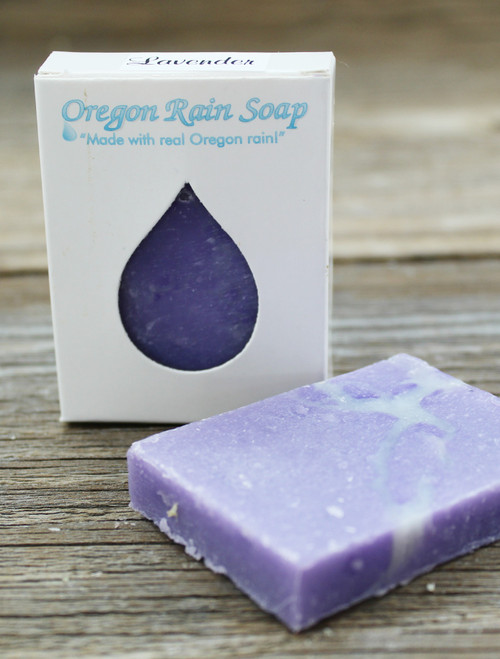 Naturally scented with essential oils Mild cleansing guest sized bar soap Made in Oregon, USA Relaxing & Calming scent