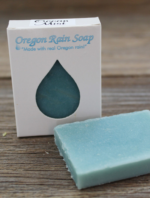 Mild cleansing guest sized bar soap Made with real Oregon rain! Made near Portland, Oregon in Sherwood Pure & Serene