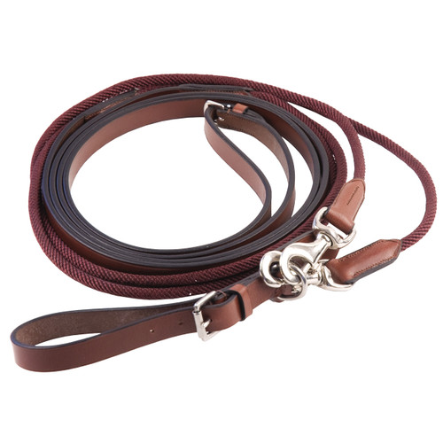 #69901 Brown Horse Details about  /Camelot Leather Draw Reins