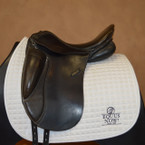 Used PDS Dressage Saddle - Sz 17.5 inch - Exchangeable Gullet