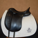 Used Schleese Infinity Dressage Saddle - Sz 17 inch - Wide Tree