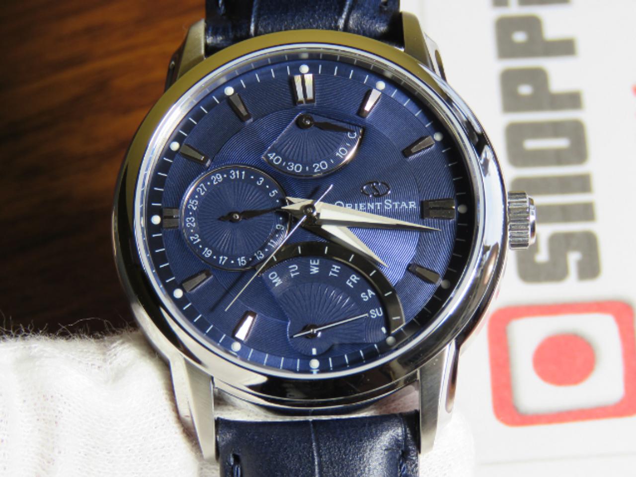 Orient Star Retrograde Blue