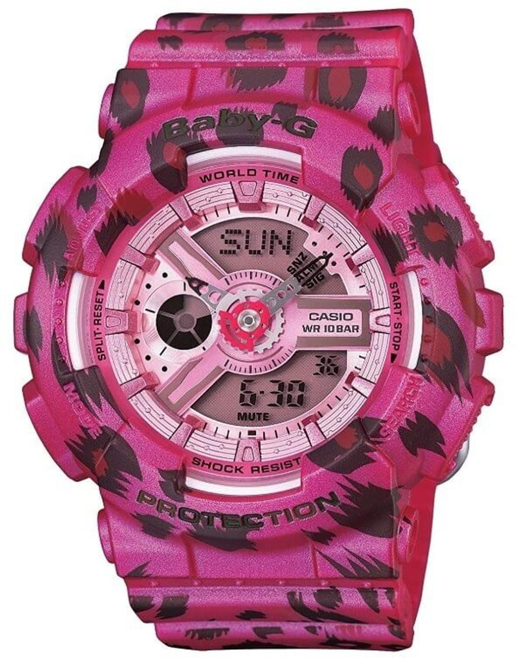 Baby-G Analog-Digital BA-110LP-4AJF Leopard Pattern Pink