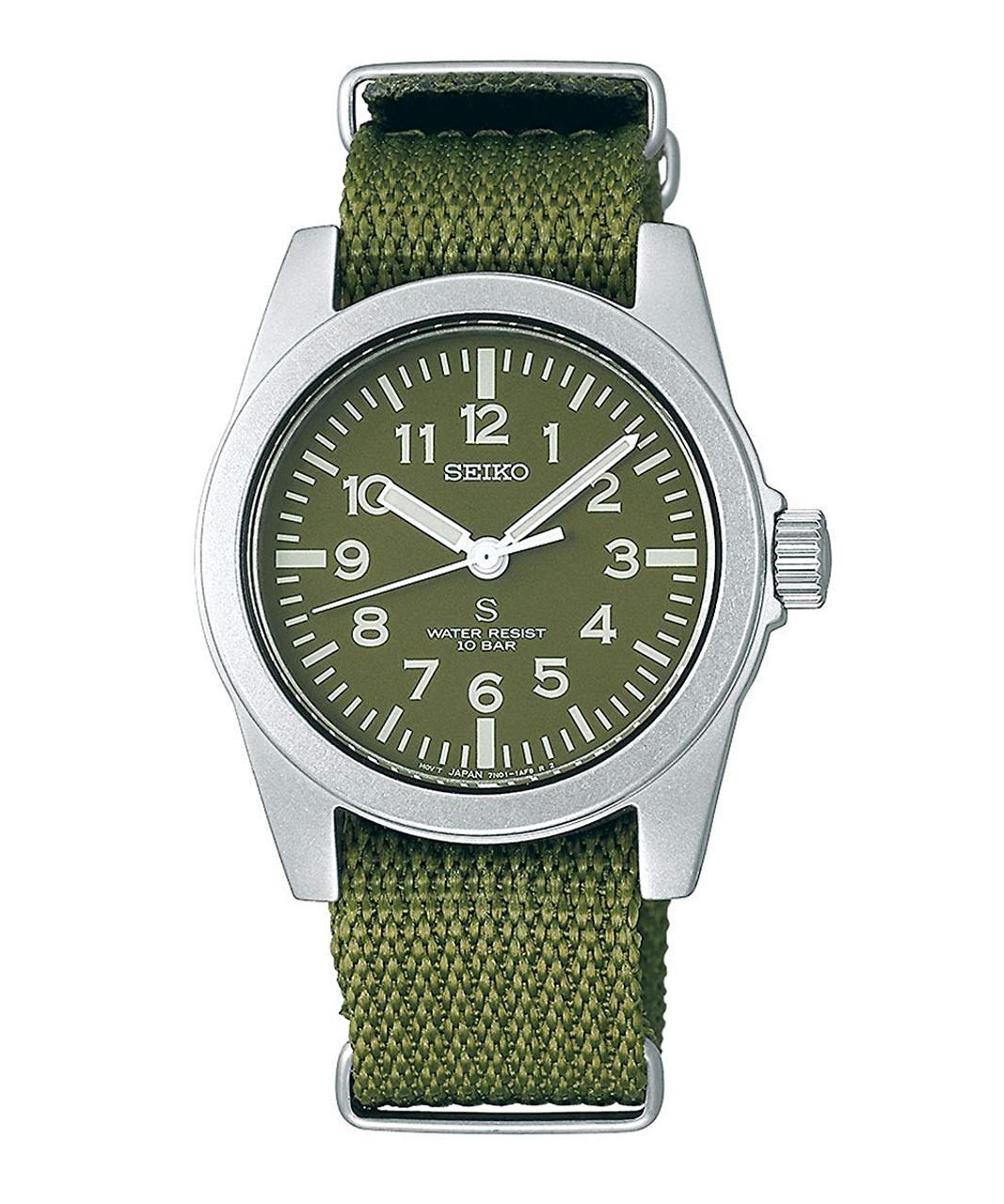 Seiko SUS Quartz Green Military Limited SCXP163