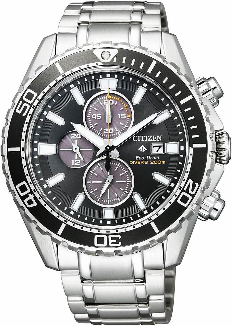 Black and Silver Citizen Promaster BN0190-82E Watch