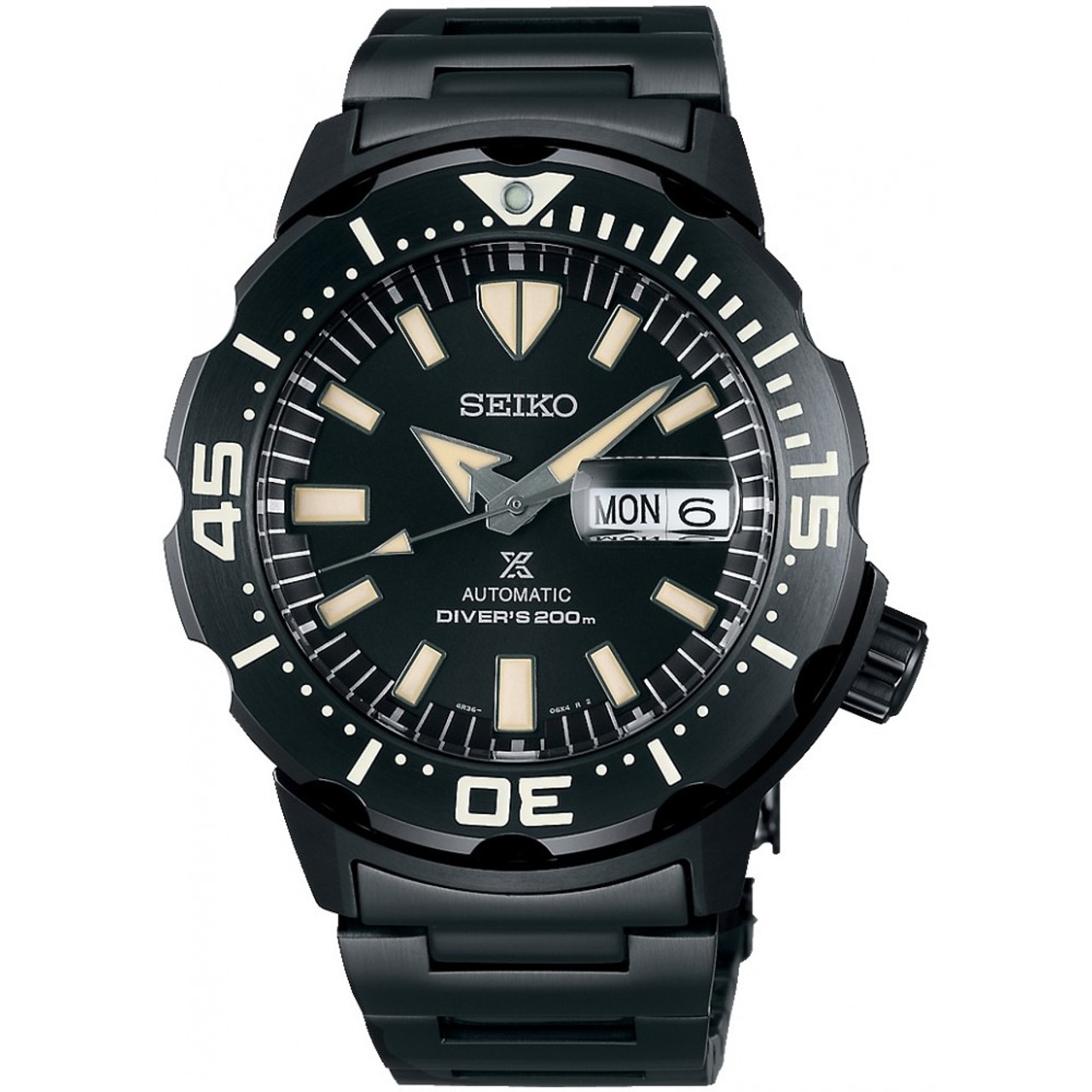 Seiko Diver Monster All Black Limited Kanji Day SBDY037