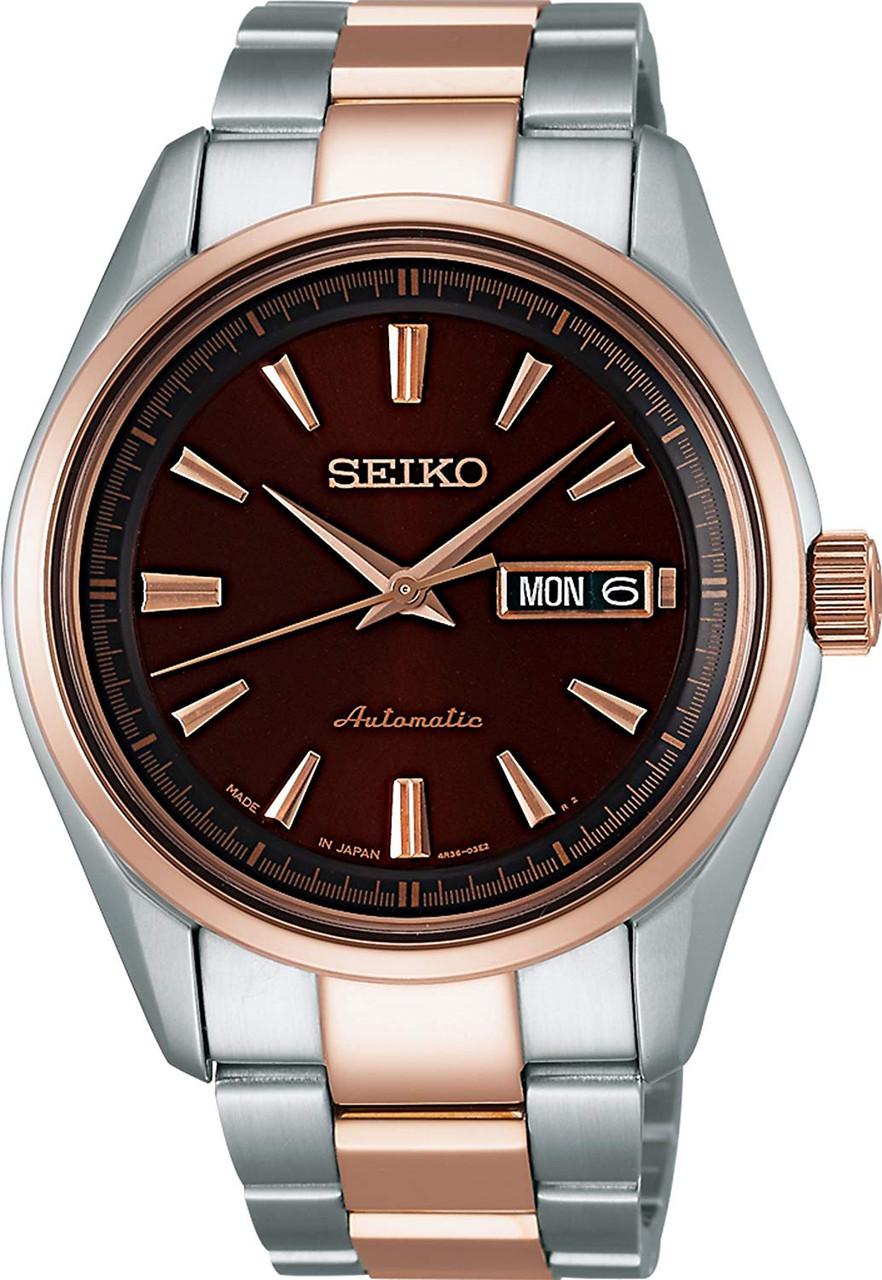 Seiko Presage SARY056 Two-Tone Rose Gold