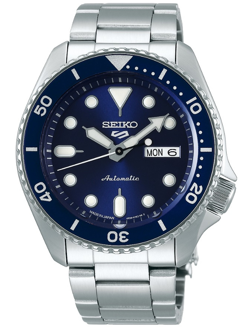 Seiko 5 Sports Automatic Made In Japan Blue SBSA001