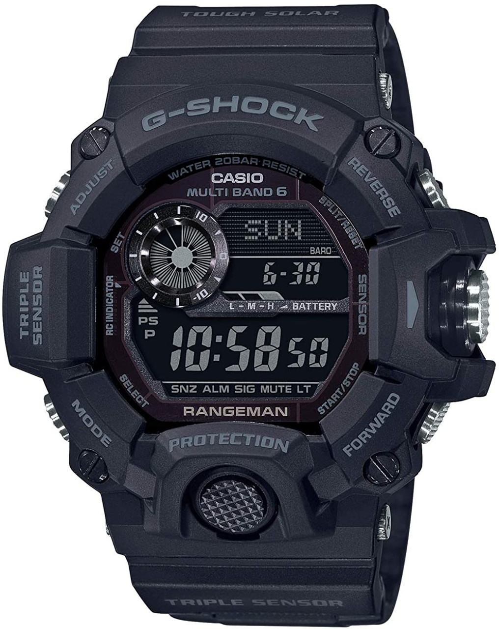 Casio Rangeman GW-9400J-1BJF Black Out Carbon