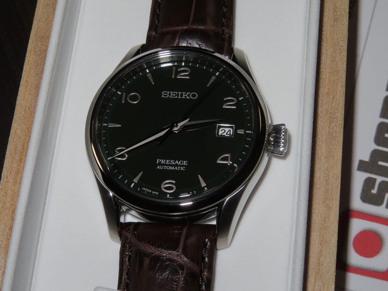 Seiko Presage Green Enamel Limited SARX063