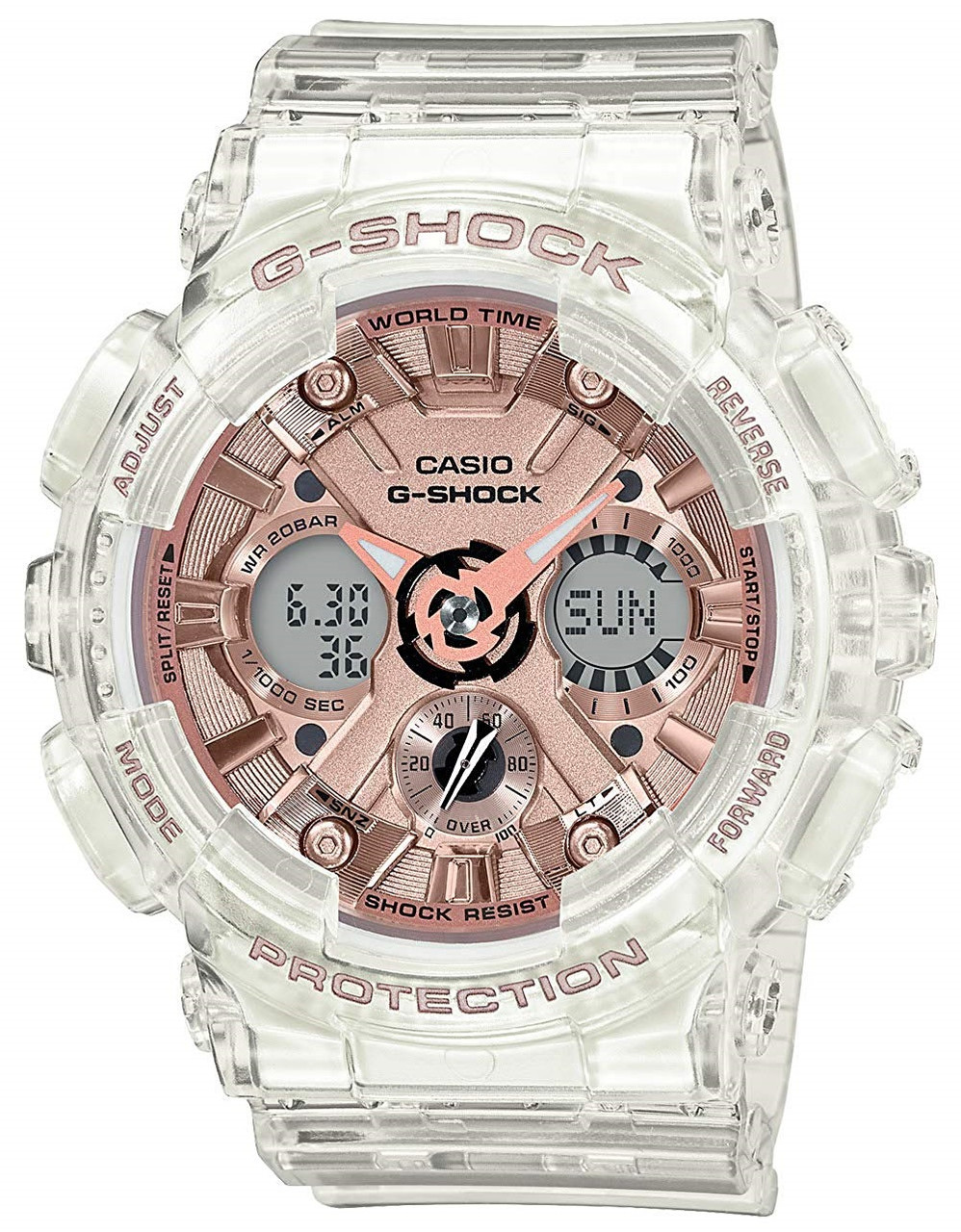 G-Shock Transparent x Rose Gold GMA-S120SR-7AJF