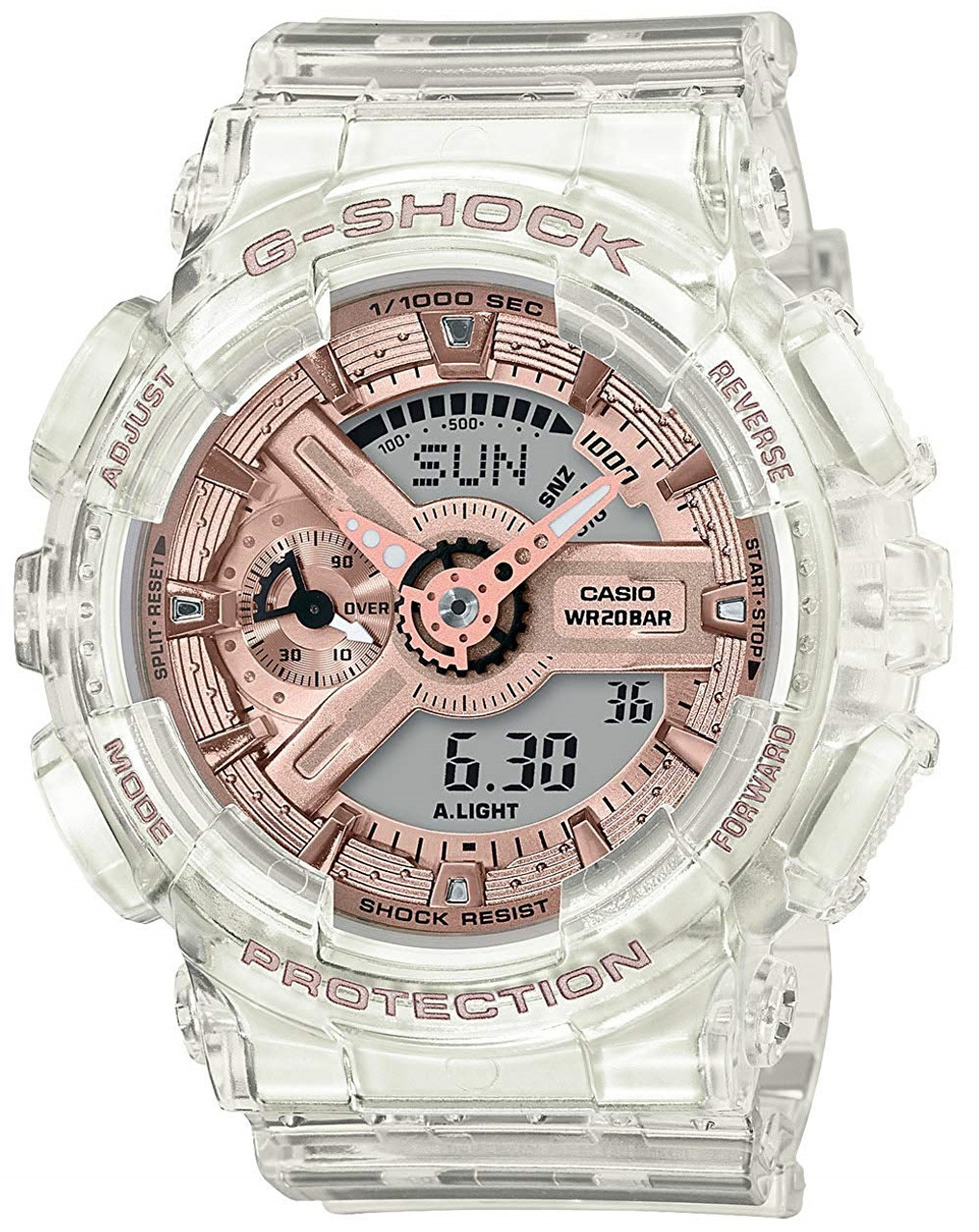 G-Shock GMA-S110SR-7AJF Transparent x Rose Gold