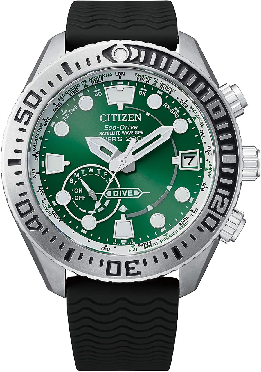 Citizen Promaster True GPS Diver Green CC5001-00W