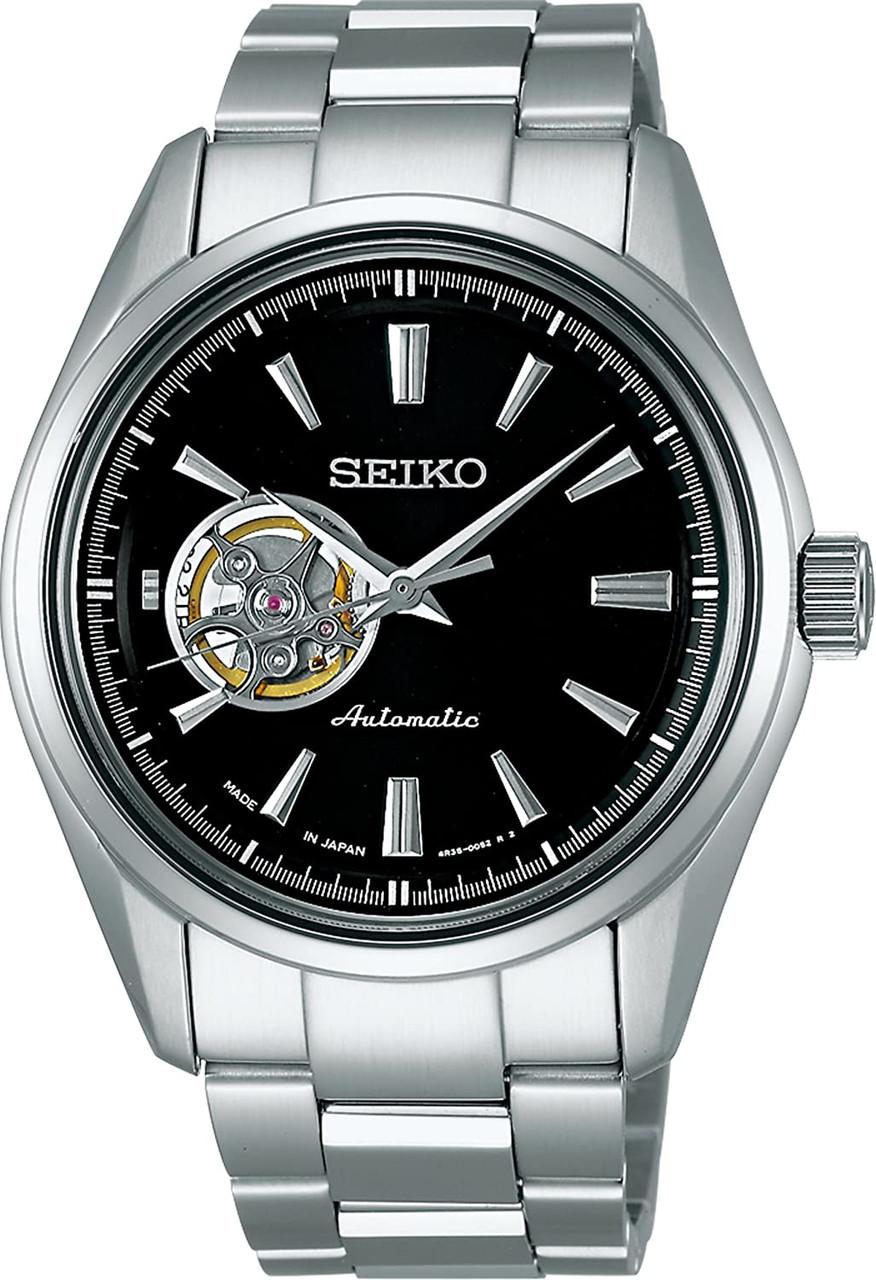 Seiko Presage Open Heart Black Dial SARY053