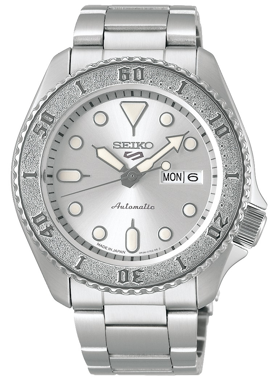 Seiko 5 Sports Diver Made In Japan Silver Dial SBSA063