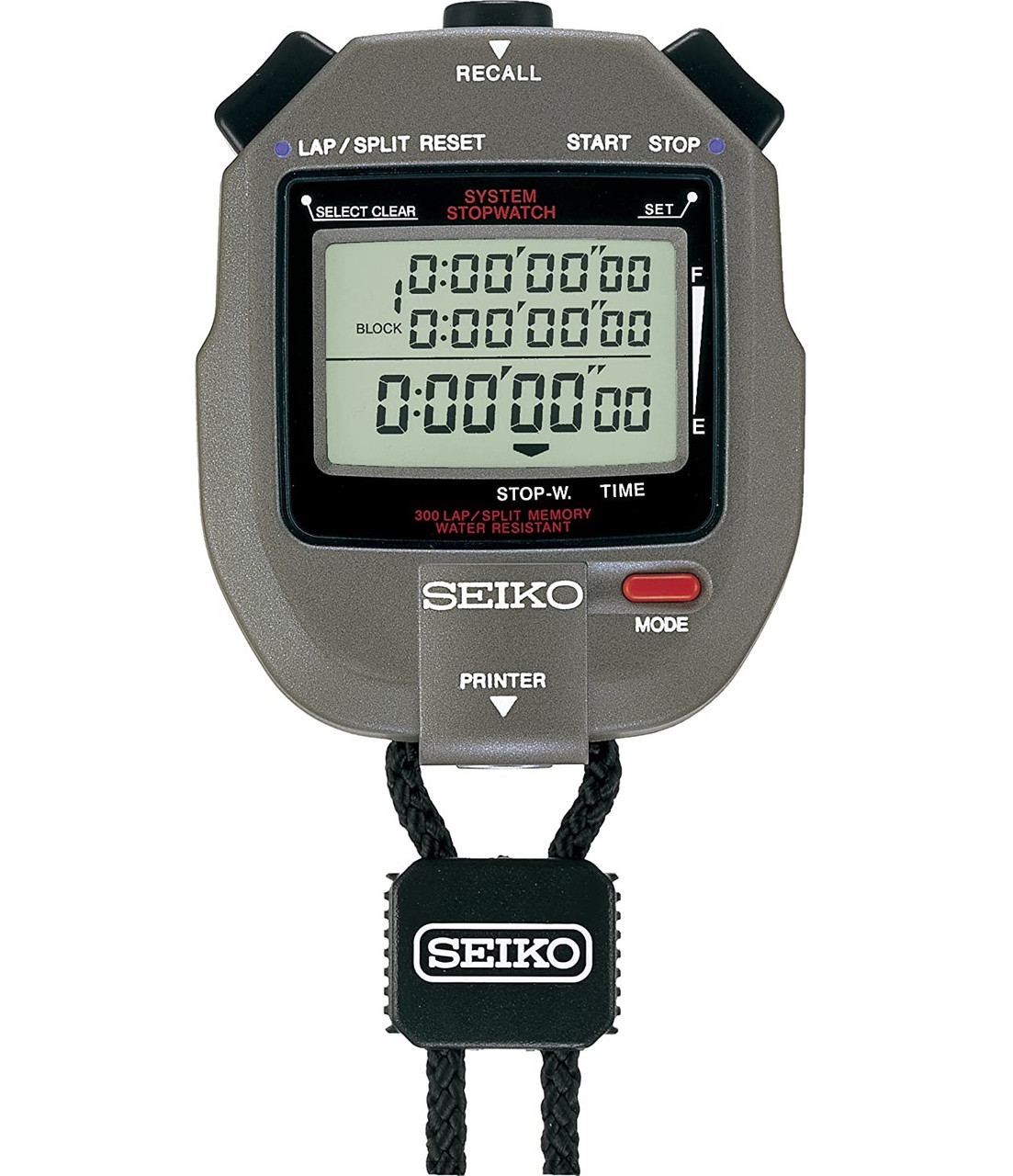 Seiko S143 300 Lap Stopwatch S23569J with Printer Port