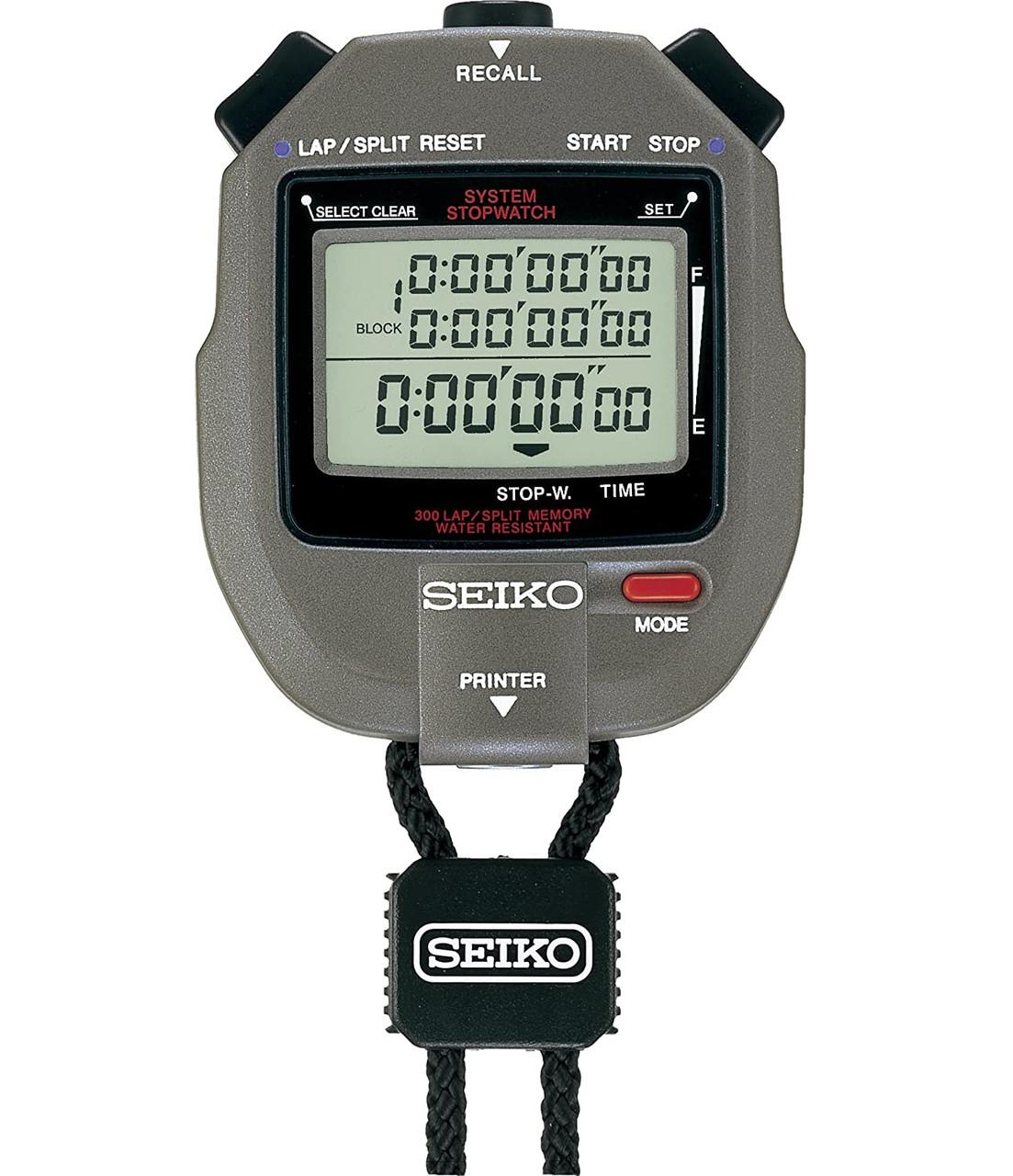 Seiko S143 300 Lap Stopwatch S23569J with Printer Port