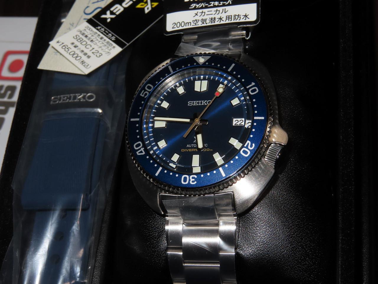 Seiko 1970 Dive Limited Captain Willard Blue Dial SBDC123
