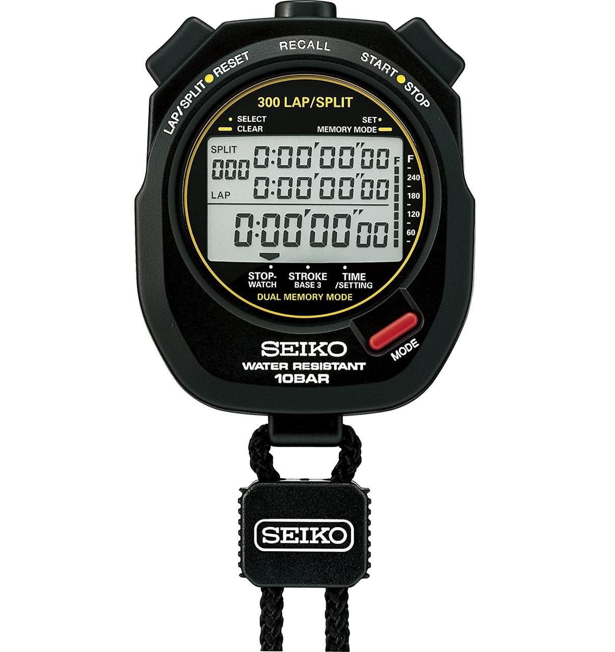 Seiko S141 300 Lap Memory Stopwatch for Aquatic Sports
