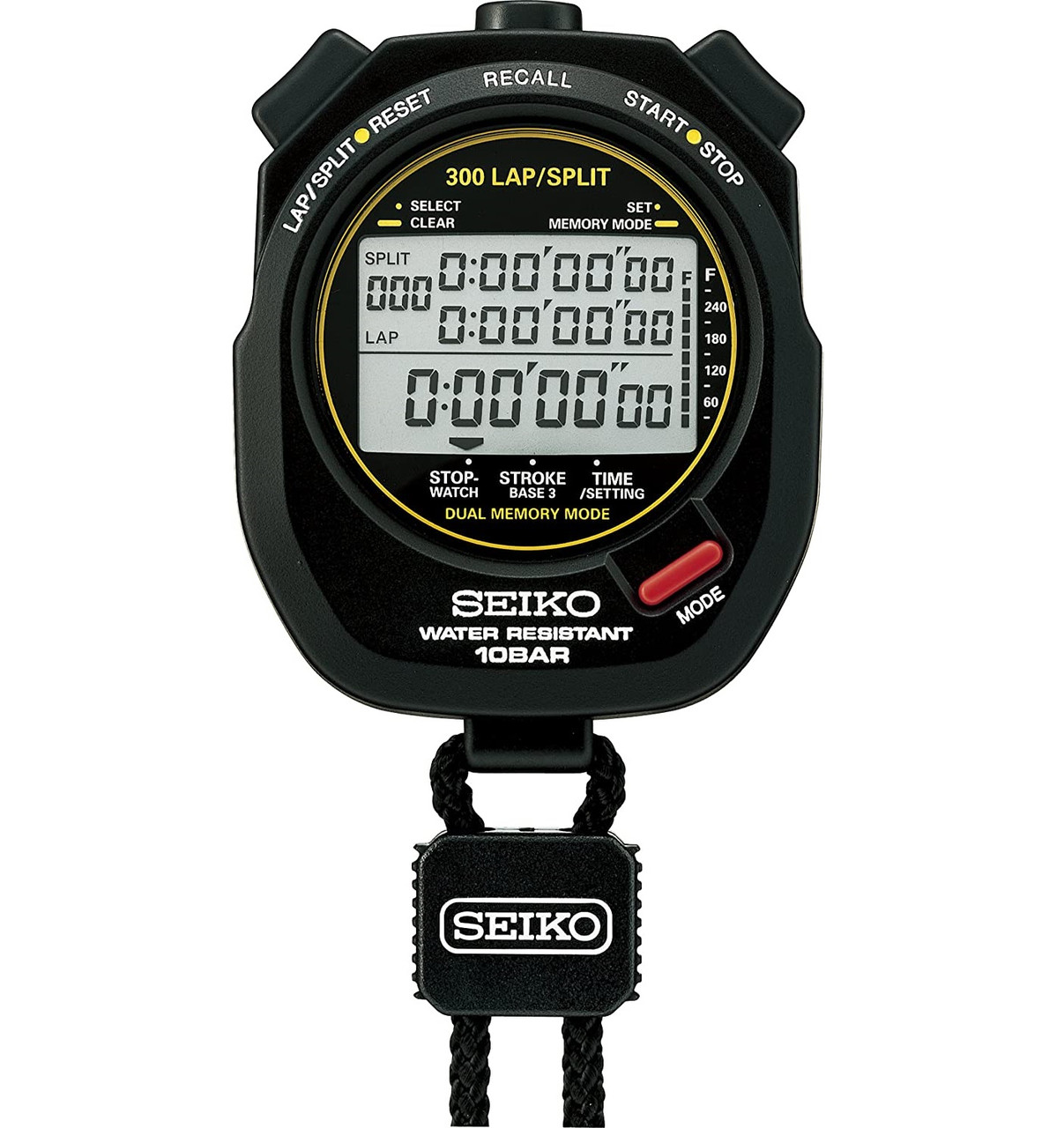 Seiko S141 300 Lap Memory Stopwatch for Aquatic Sports