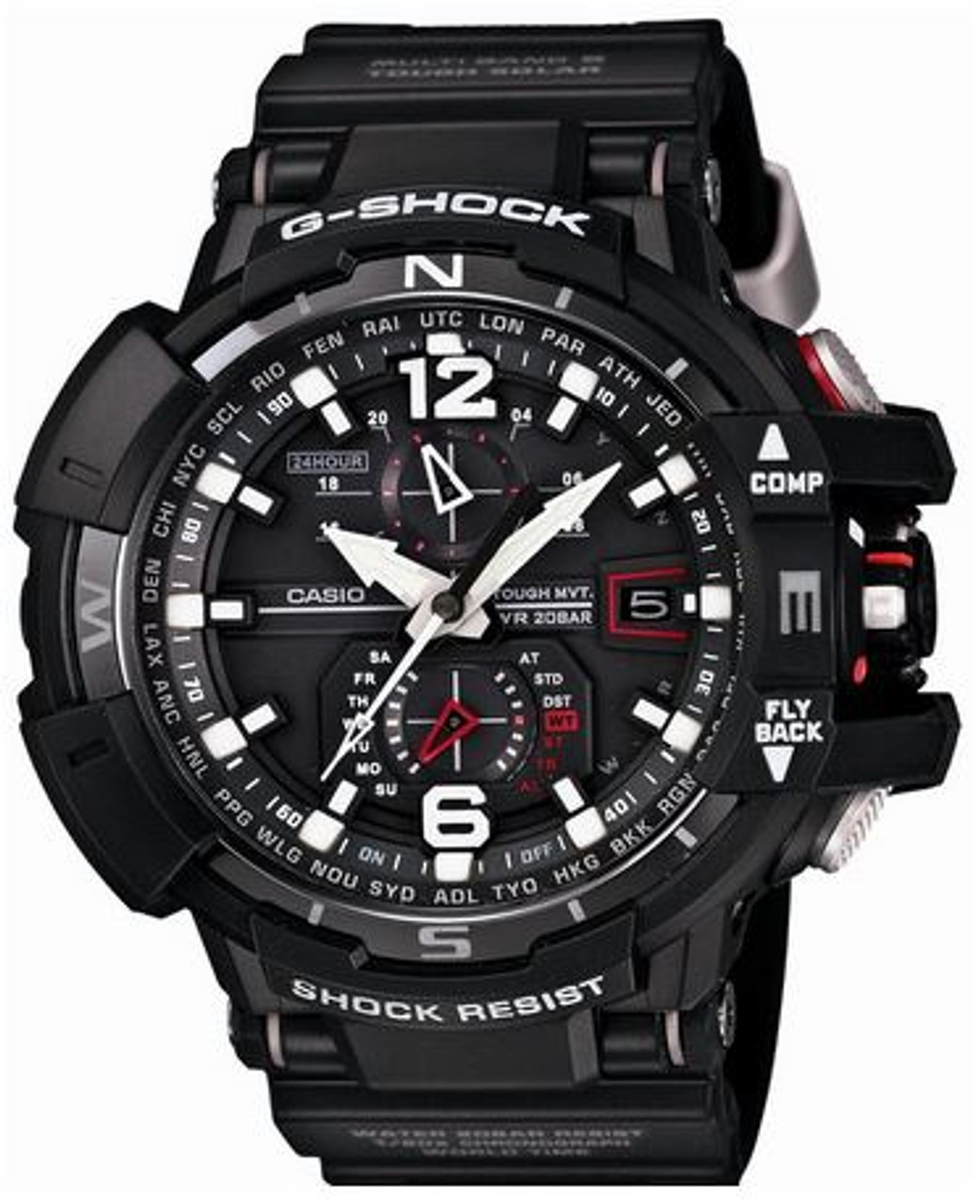 Black Casio G-Shock Cockpit Sky Watch