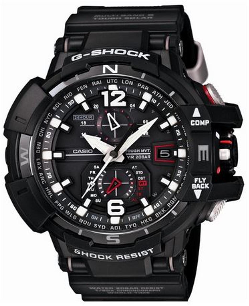 Black Casio G-Shock Cockpit Sky Watch