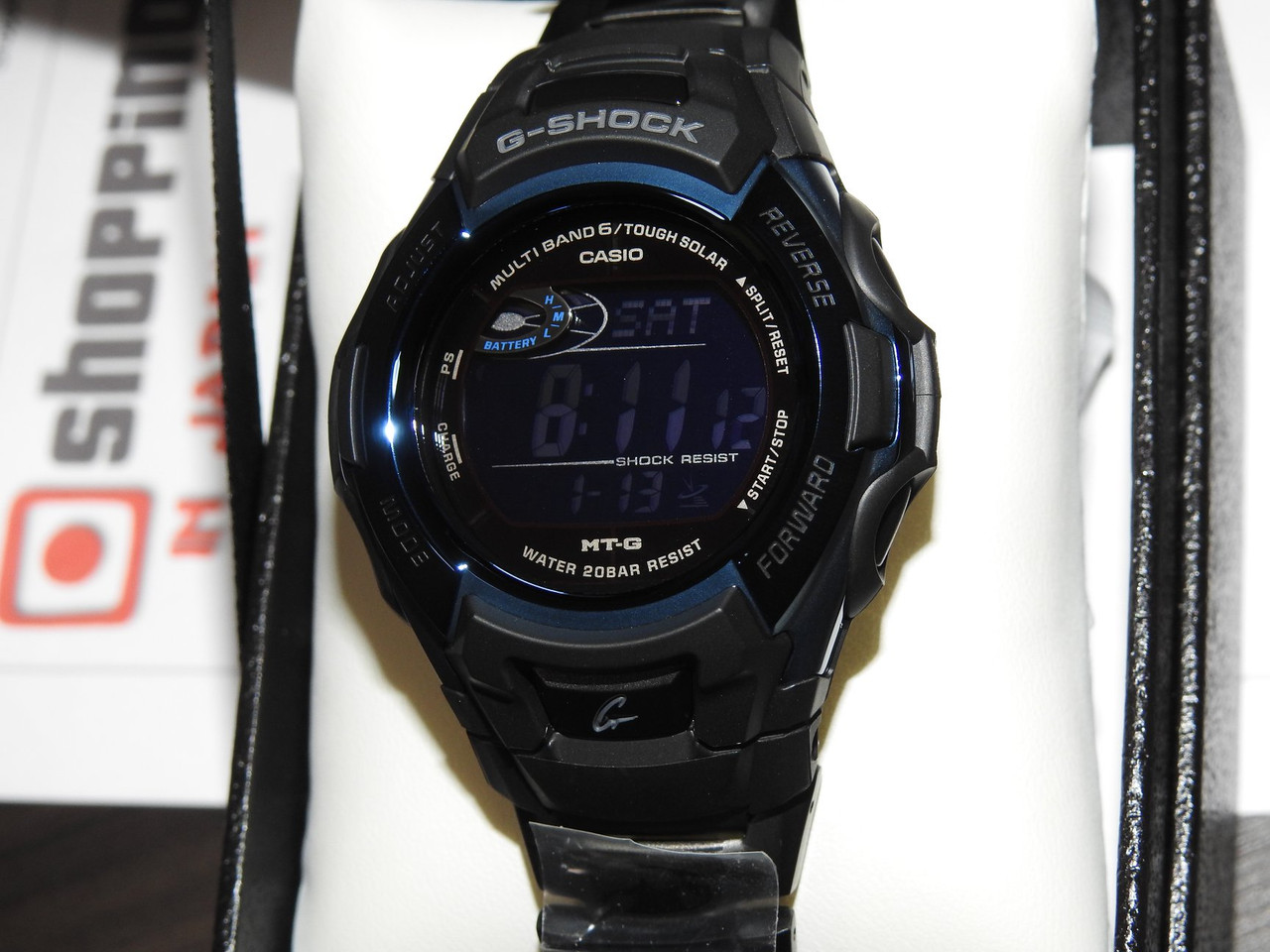 Casio G-Shock MT-G MTG-M900BD-2JF Black and Blue