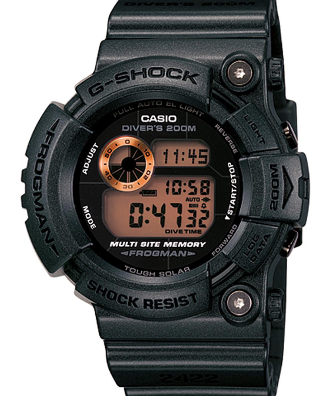 Rusty Black Casio Frogman Watch