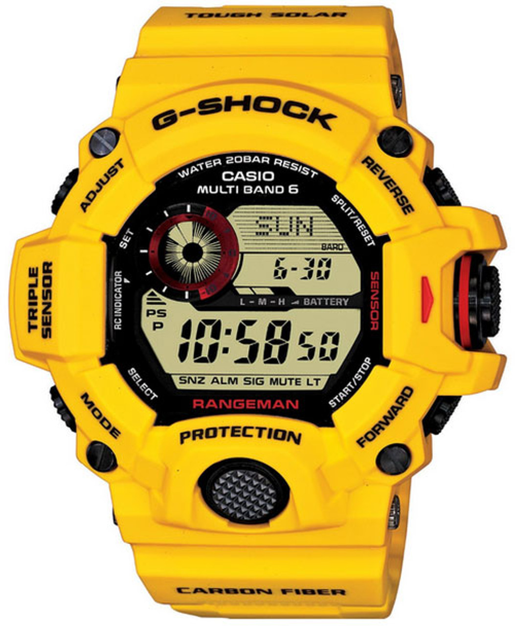 new concept b2c09 66c8f Casio G-Shock Rangeman GW-9430EJ-9JR Lightning Yellow