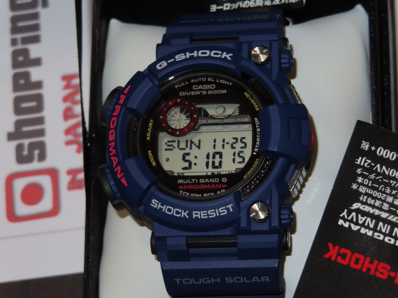 Casio G-Shock MEN IN NAVY Frogman GWF-1000NV-2JF