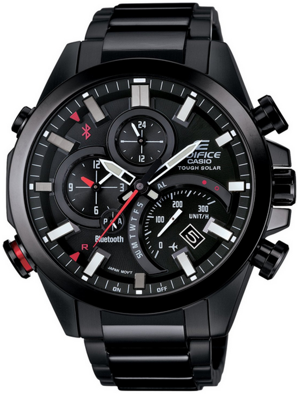 Black and Red Bluetooth Casio Edifice Watch