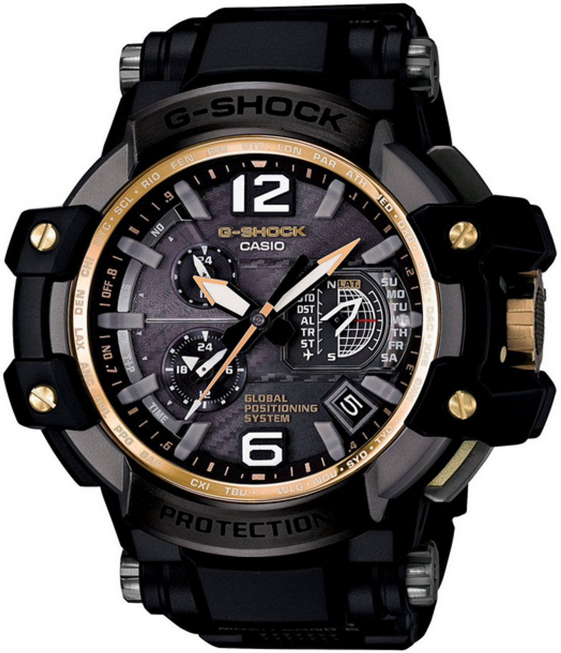 Black and Gold Casio G-Shock GPS Gravity Master