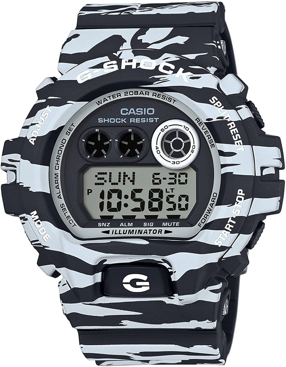 G-Shock White and Black Series GD-X6900BW-1JF