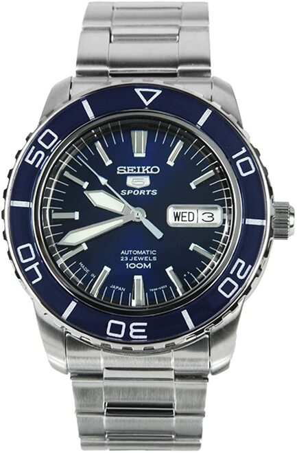 Seiko 5 Sports SNZH53J1 Blue Pearlescent Face