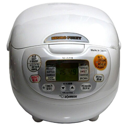 Zojirushi Rice Cooker NS-ZLH18 WZ 220-230V