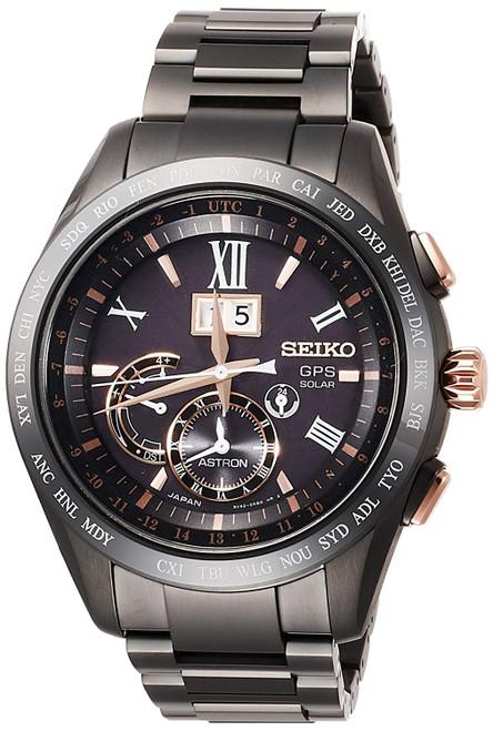 Seiko Astron  Titanium Black Dial SSE141J1 / SBXB141