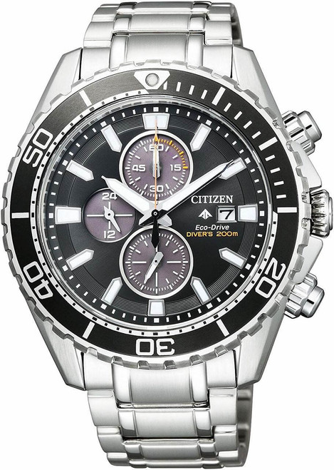 Black and Silver Citizen Promaster BN0190-82E Watch
