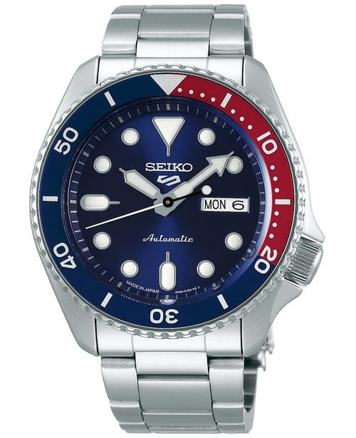 Seiko 5 Sports Pepsi Made In Japan SBSA003 Kanji