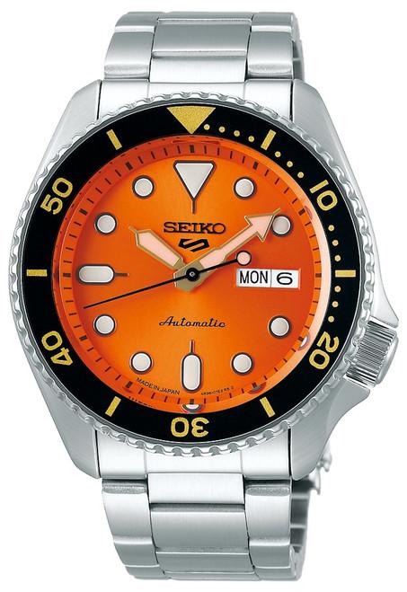 Seiko 5 Orange Made In Japan Kanji SBSA009