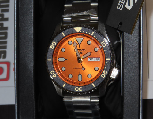 Seiko 5 Orange Made In Japan Kanji SBSA009