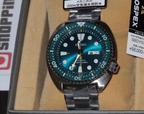 Seiko Prospex Turtle Hulk Green Japan Limited SBDY039