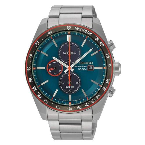 Seiko SSC717P1 Solar Chronograph Blue Dial