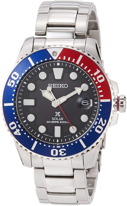 Seiko Prospex Diver Solar Pepsi Made In Japan SBDJ047